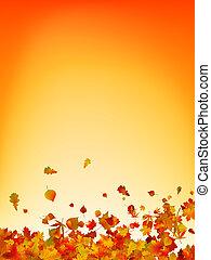 feuilles automne, arrière-plan., eps, 8