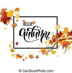 feuilles automne, bonjour