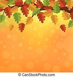 feuilles automne, conception, fond