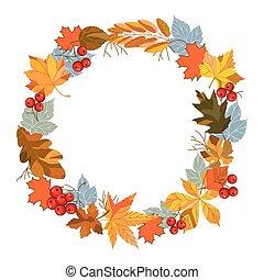 feuilles automne, couronne