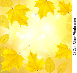 feuilles automne, fond