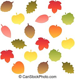 feuilles automne, pattern., seamless, bac