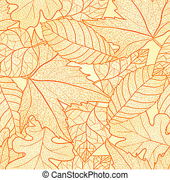 feuilles automne, pattern., seamless