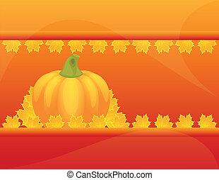 feuilles automne, potirons, autum