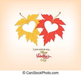 feuilles automne, saint-valentin