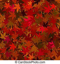 feuilles, automne, seamless, fond, érable