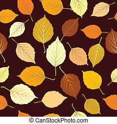feuilles automne, seamless, fond