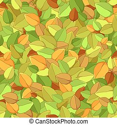 feuilles automne, seamless, texture
