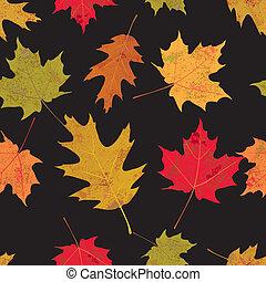 feuilles automne, tileable, coloré, illustration