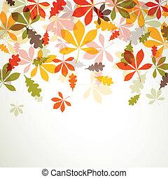 feuilles automne, vecteur