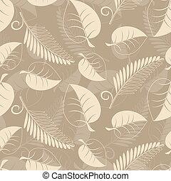 feuilles, beige
