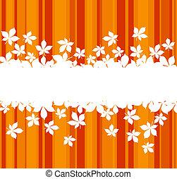 feuilles, coloré, automnal, fond