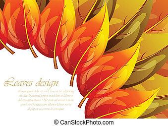 feuilles, conception