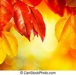 feuilles, fall., automne