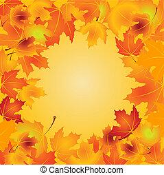 feuilles, fond, automne