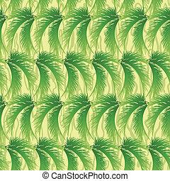 feuilles, fond, paume, seamless