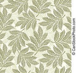 feuilles, fond, seamless