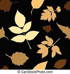 feuilles, jaune