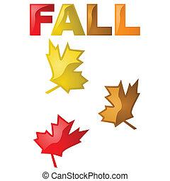feuilles, lustré, automne