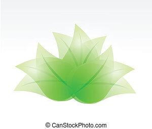 feuilles, mettez stylique, illustration
