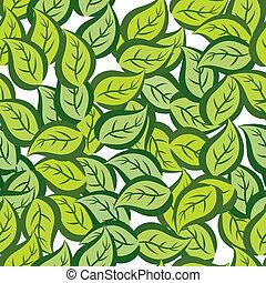 feuilles, modèle, seamless