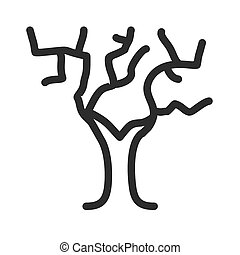 feuilles, non, arbre