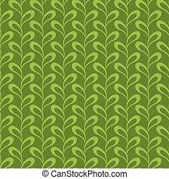 feuilles, pattern., résumé, seamless