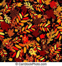 feuilles, seamless, automne, conception, fond, ton