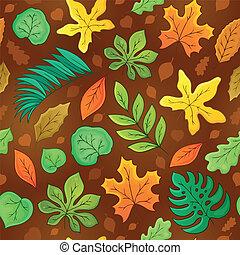 feuilles, seamless, fond, 3