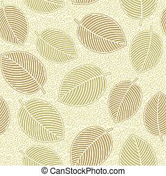 feuilles, -, seamless, fond