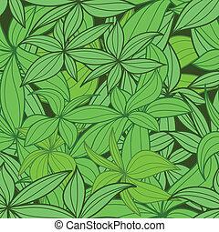 feuilles, seamless, fond