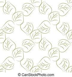 feuilles, seamless, vert