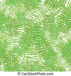 feuilles, vert, seamless, fond