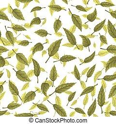 feuilles, vert, seamless, texture