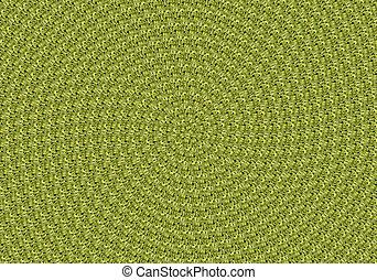 feuilles, vert, spirale, fond