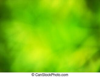 feuilles vertes, -, fond