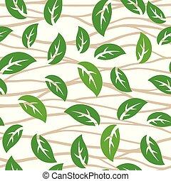 feuilles vertes, modèle
