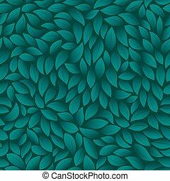 feuilles vertes, texture, pattern., vecteur, illustration.