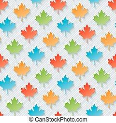 feuilles, wallpaper., multicolore, érable