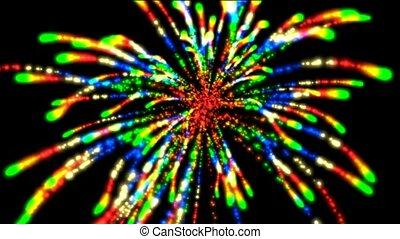 feux artifice, boucle, couleur, seamless