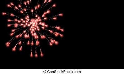 feux artifice, boucle, vacances, seamless