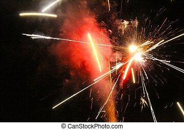 feux artifice, exploser