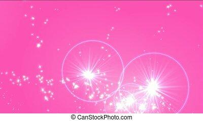feux artifice, jet, étoiles, halo