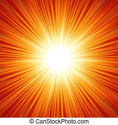 feux artifice, légère concentration, flare., eps, lentille, 8
