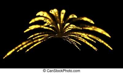 feux artifice, vacances, boucle, seamless