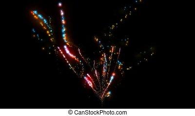 feux artifice, vacances, couleur