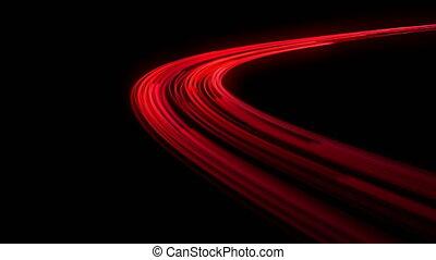 feux circulation, mouvement, extrêmement, fast.