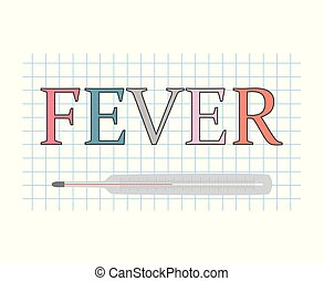 fever concept- vector illustration