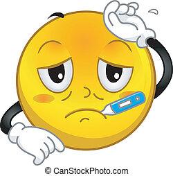 Fever - Illustration of a Sick Smiley