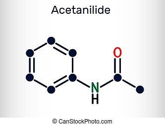 fever-reducing, c8h9no, acetanilide, il, analgésique, drogue...